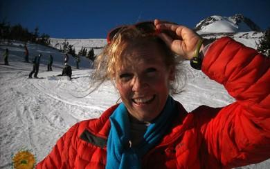 Image of Laura Coleman on Mount Hood