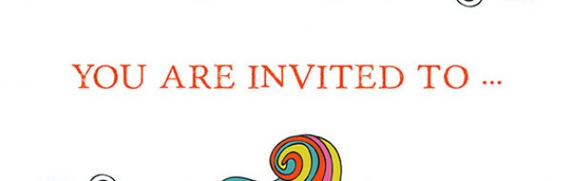 Image of an invitation with text saying you are invited to...