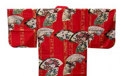 image of the arms of a red kimono