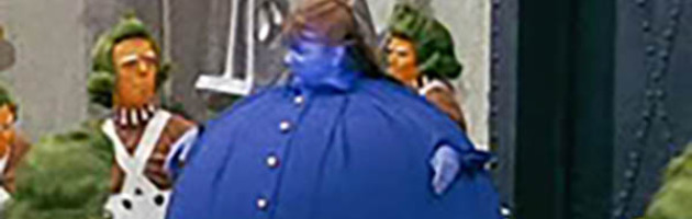 Violet Beauregarde thanks to Willie Wonka's Charlie and the Chocolate Factory