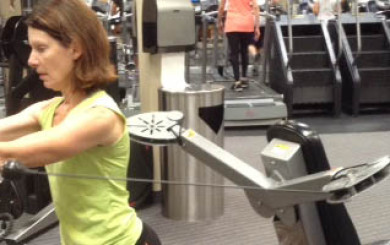 Image of woman doing a chest press