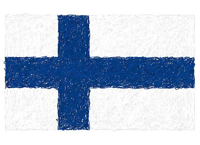 Illustration of Finnish Flag