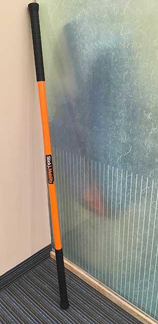 Image of orange stickman moving stick