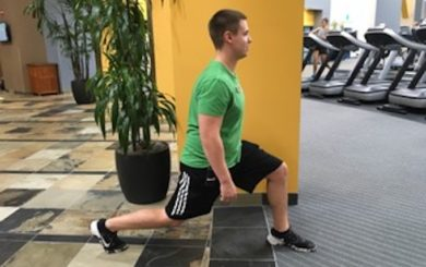 image of man demonstrating a lunge